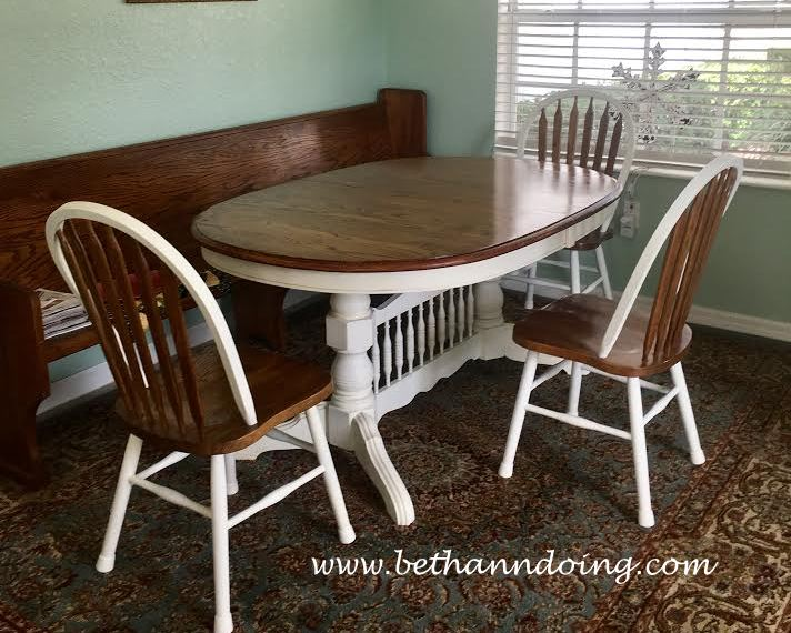 My Dining Room Table And Chairs Re Done With Chalk Paint
